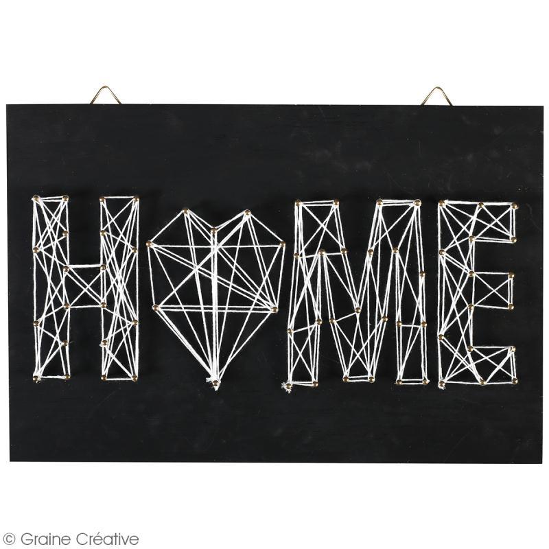 Kit tableau string art - Home - 20 x 30 cm - Photo n°2