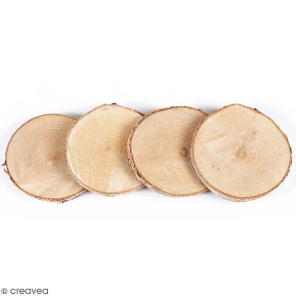Rondelles de bois - entre 7 et 10 cm - 4 pcs - Photo n°1