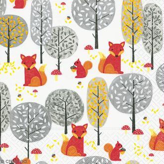 Serviette en papier Culture - Ecureuils et renards
