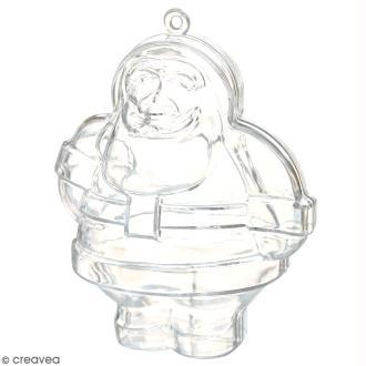 Forme en plastique transparent cristal - Père Noël - 10 cm - 1 pce