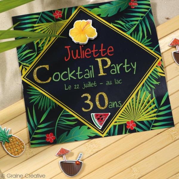 Stickers 3D - Tropical - 12 autocollants - Photo n°3