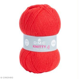 Laine Knitty 4 DMC - Rouge 690 - 100 g