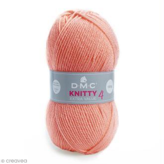 Laine Knitty 4 DMC - Rose saumon 702 - 100 g