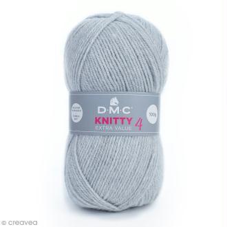 Laine Knitty 4 DMC - Gris clair 814 - 100 g