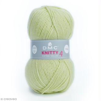 Laine Knitty 4 DMC - Vert amande 882 - 100 g