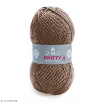 Laine Knitty 4 DMC - Marron taupe 927 - 100 g