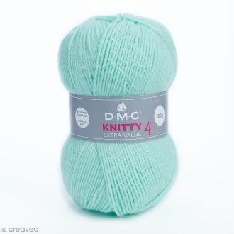 Laine Knitty 4 DMC - Vert d'eau 956 - 100 g
