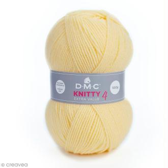 Laine Knitty 4 DMC - Jaune pâle 957 - 100 g