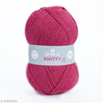 Laine Knitty 4 DMC - Rose framboise 984 - 100 g