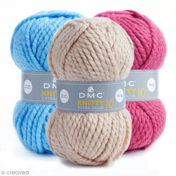 Laine Knitty 10 DMC - 100 g - Photo n°1