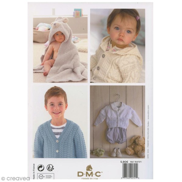 Catalogue tricot DMC - Baby knitting Collection - 24 modèles Enfants - Photo n°2