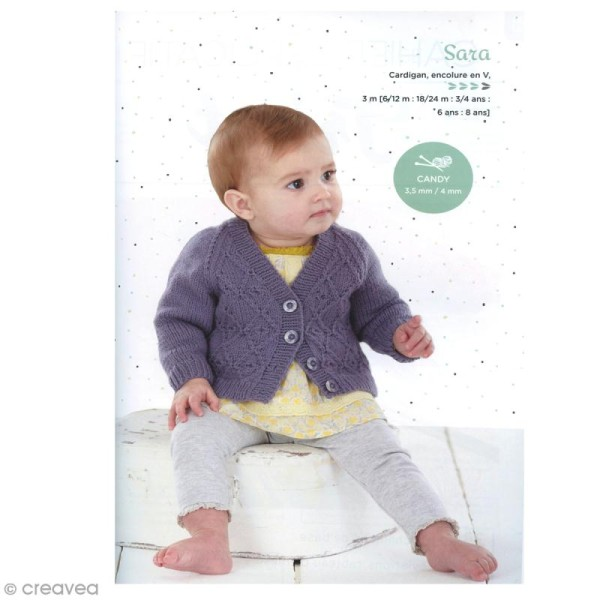 Catalogue tricot DMC - Baby knitting Collection - 24 modèles Enfants - Photo n°3