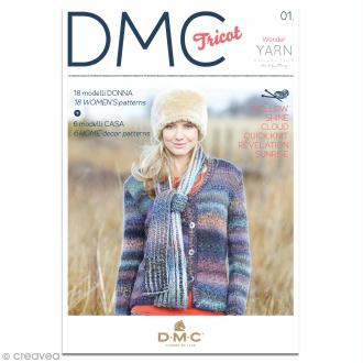 Catalogue tricot DMC - Wonder Yarn  Collection - 18 modèles Femmes et 6 modèles Maison