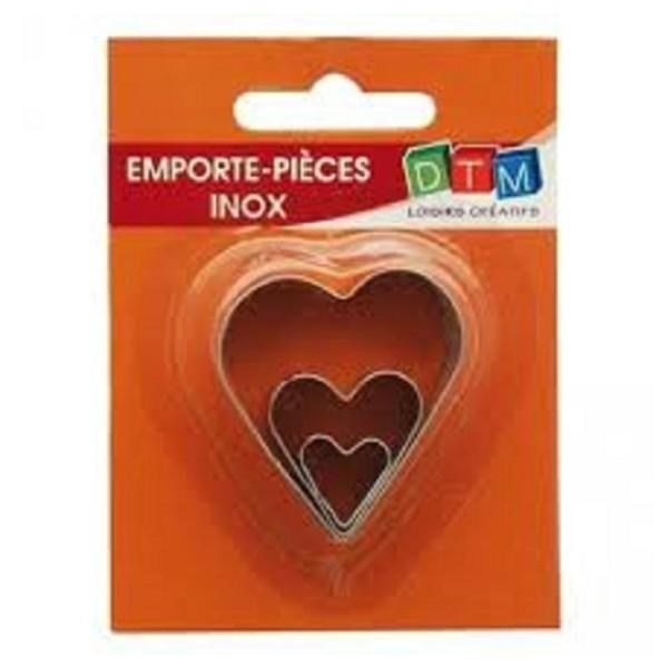 3 Mini Emporte-Pièces Coeur En Inox - Photo n°1