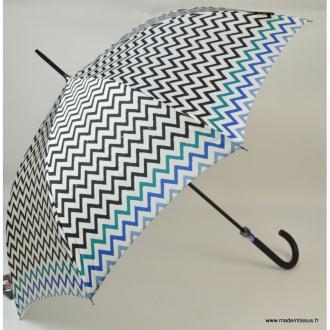 Parapluie Piganiol chevrons noir