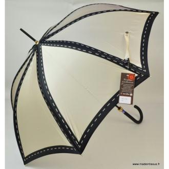 Parapluie Piganiol beige surpiquage