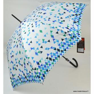 Parapluie Piganiol triangles bleus et verts