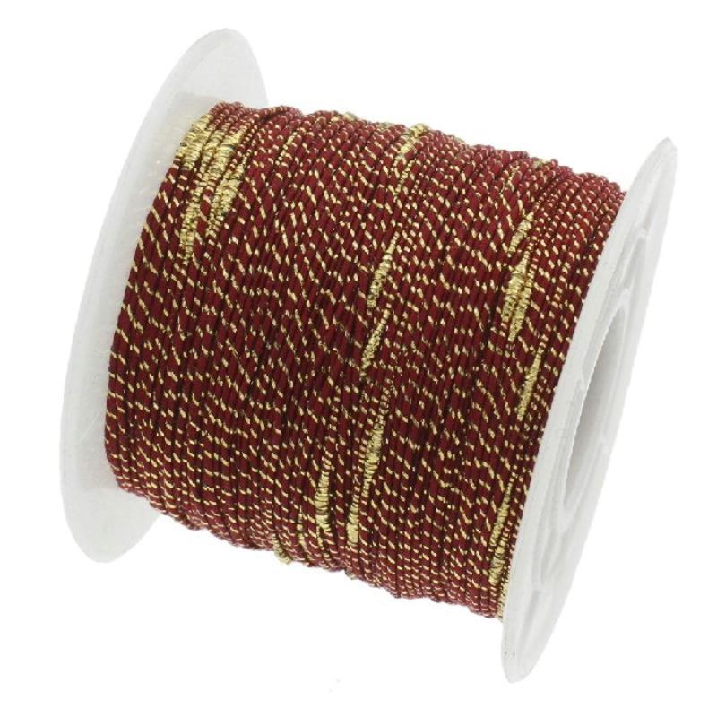 fil nylon tress bordeaux fil dor 1 millim tre sur