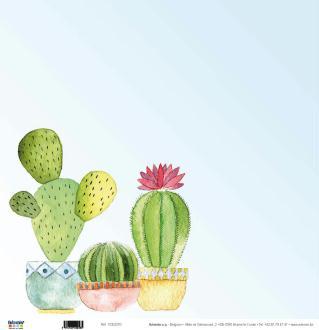Papier Scrapbooking Cactus 30.5 x 30.5 cm - Papier imprimé recto verso - Papier Cactus - 11002370