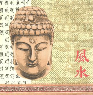 4 Serviettes en papier Asie Bouddha Format Lunch