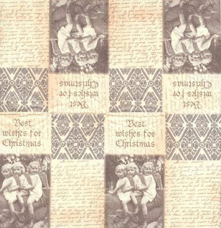 4 Mouchoirs en papier Noël Vintage Format Lunch - Paper+Design