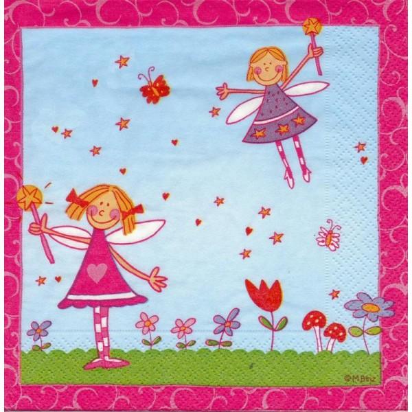 4 Serviettes en papier Princesse Julia Format Lunch - Photo n°1