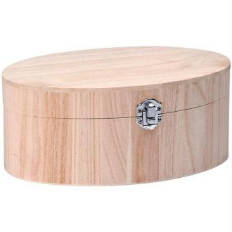 Boîte Ovale à charnières 18 x 11,5 x 7,7 cm