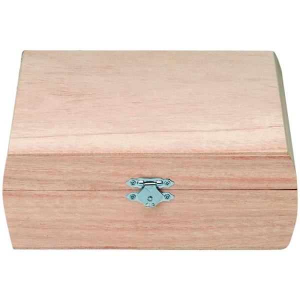 Boîte Carrée à charnières - 18,5 x 18 x 6,7 cm - Photo n°1