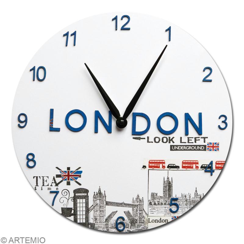 Horloge en bois à décorer ronde 30 cm - Photo n°3