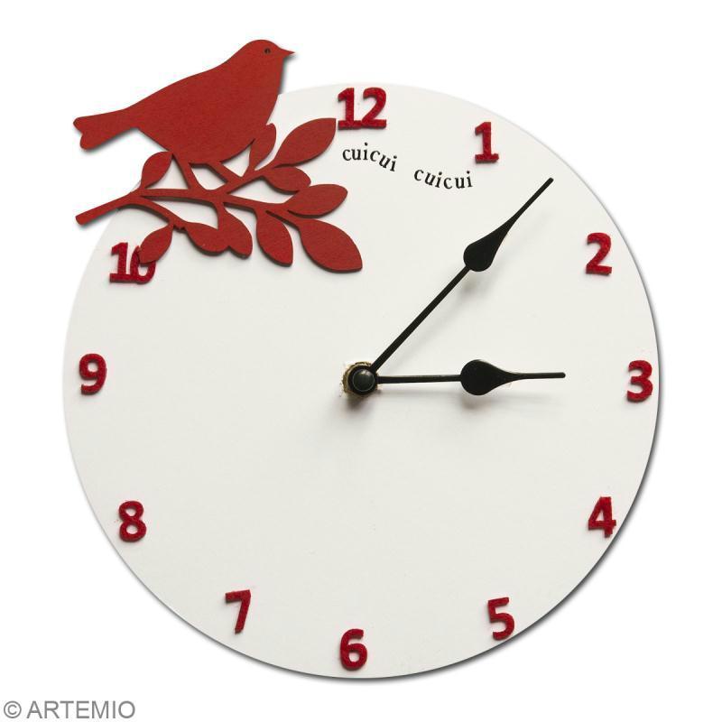 Horloge en bois à décorer ronde 30 cm - Photo n°4