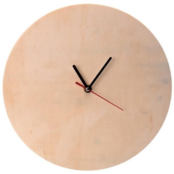 Horloge en bois à décorer ronde 30 cm - Photo n°1