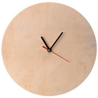 Horloge en bois à décorer ronde 30 cm