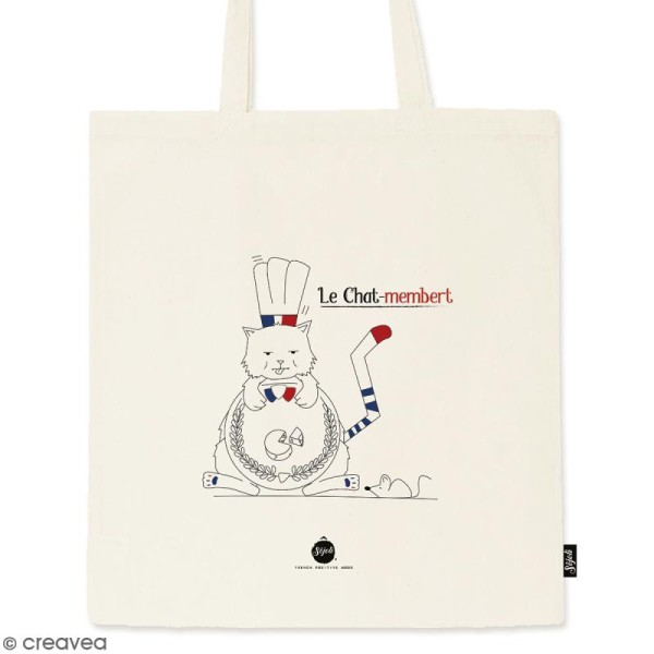 Tote bag Chat-Membert - Collection Cocorico - 36 x 42 cm - Photo n°1