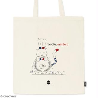 Tote bag Chat-Membert - Collection Cocorico - 36 x 42 cm