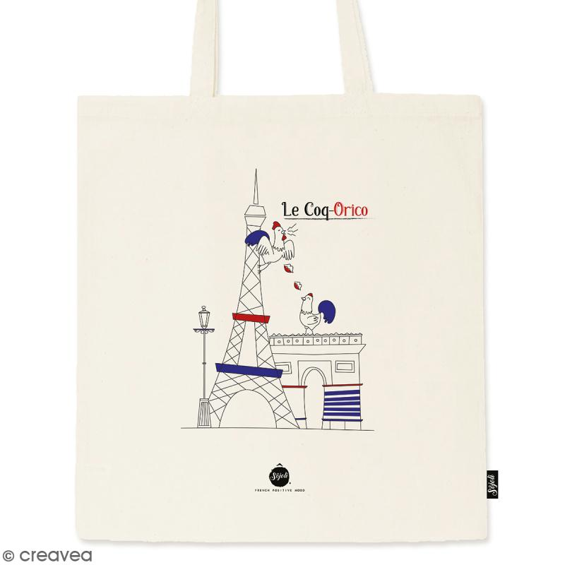 Tote bag Coq-Orico - Collection Cocorico - 36 x 42 cm - Photo n°1