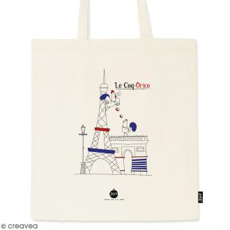 Tote bag Coq-Orico - Collection Cocorico - 36 x 42 cm