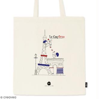 Tote bag Coq-Orico - Collection Cocorico - 36 x 42 cm