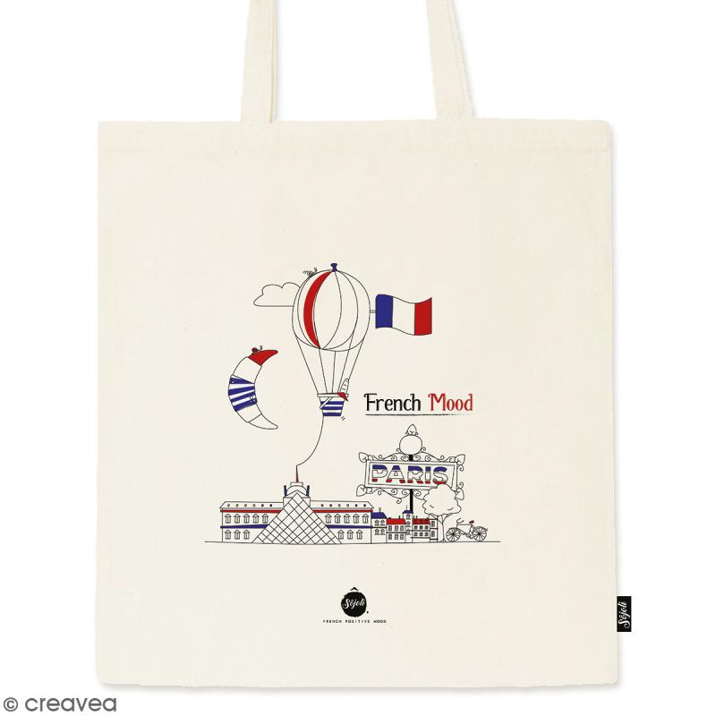 Tote bag French Mood - Collection Cocorico - 36 x 42 cm - Photo n°1