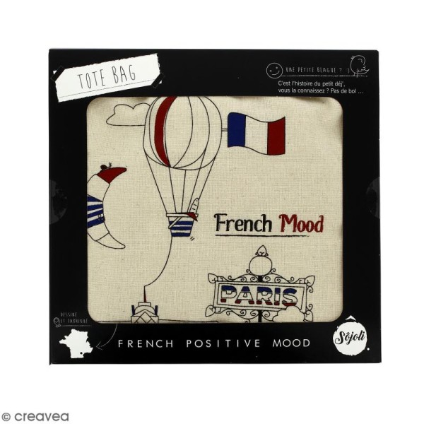 Tote bag French Mood - Collection Cocorico - 36 x 42 cm - Photo n°2