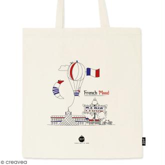 Tote bag French Mood - Collection Cocorico - 36 x 42 cm