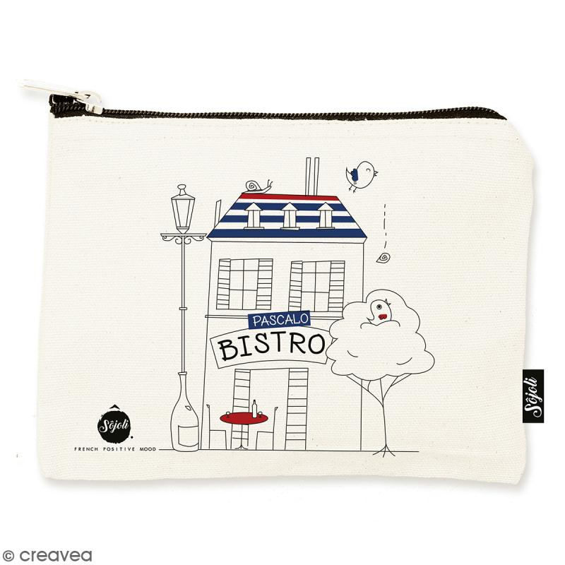 Pochette Pascalo Bistro - Taille M - Collection Cocorico - 22 x 16 cm - Photo n°1