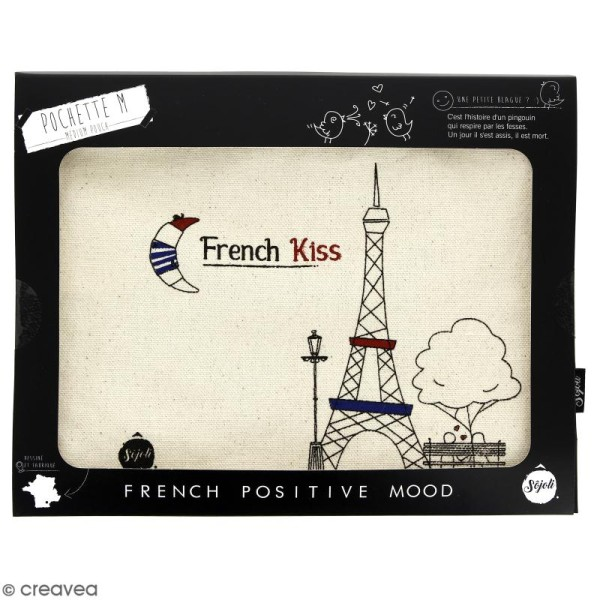 Pochette French Kiss - Taille M - Collection Cocorico - 22 x 16 cm - Photo n°2