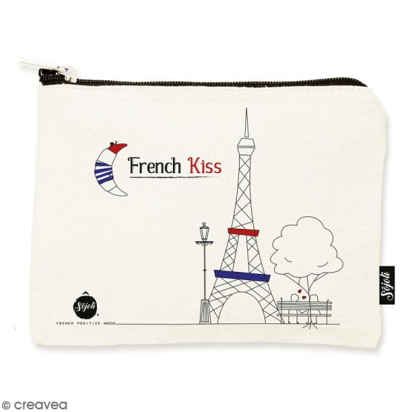 Pochette French Kiss - Taille M - Collection Cocorico - 22 x 16 cm - Photo n°1