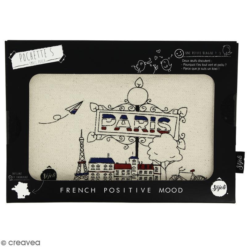 Pochette Paris - Taille S - Collection Cocorico - 22 x 12 cm - Photo n°2