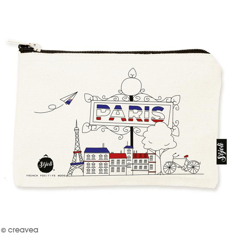 Pochette Paris - Taille S - Collection Cocorico - 22 x 12 cm - Photo n°1