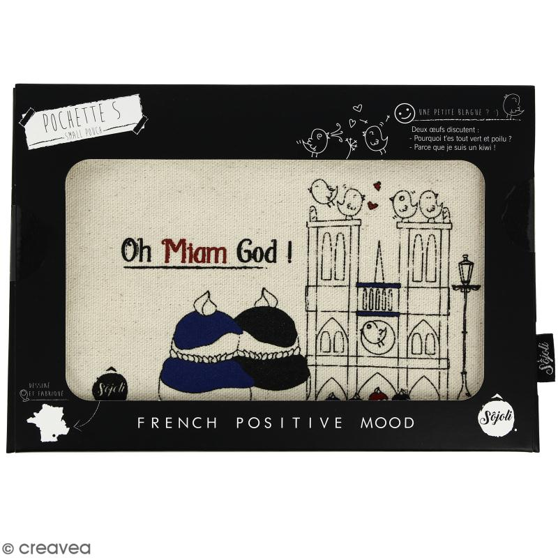 Pochette Oh Miam God - Taille S - Collection Cocorico - 22 x 12 cm - Photo n°2