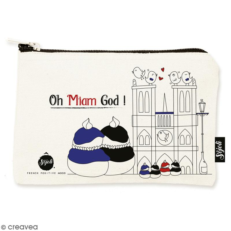 Pochette Oh Miam God - Taille S - Collection Cocorico - 22 x 12 cm - Photo n°1