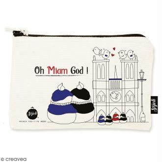 Pochette Oh Miam God - Taille S - Collection Cocorico - 22 x 12 cm