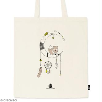 Tote bag Renard - Collection Champêtre - 36 x 42 cm