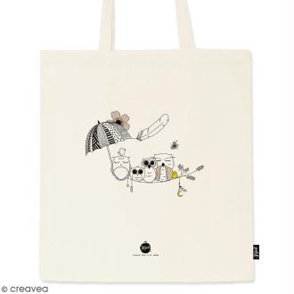 Tote bag Chouette - Collection Champêtre - 36 x 42 cm